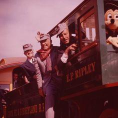 A train ride with Walt, Old Disney, Disney Fun, Disney Mickey, Disney Movies, Disney Pixar, Vintage Disneyland, Disneyland Paris, All Disney Parks, Disney Facts