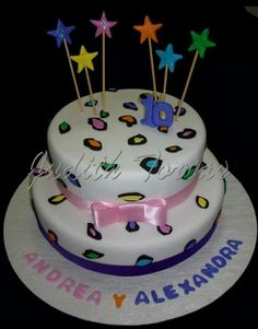 "Torta decorada con fondant ""Animal Print Fashion Girl"""