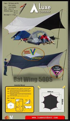 Luxe Bat Wing 500'S flysheet/tarp for sunshine protect-in Tents from Sports & Entertainment on Aliexpress.com | Alibaba Group