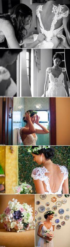 Vestido de noiva decote nas costas Emanuelle Junqueira #weddingdress