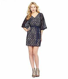 Chelsea and Violet Crochet VNeck Dress #Dillards - LOVE