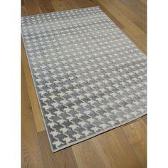tapis triangles scandinaves gris et bleu - canvas | projets à