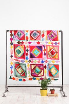 Crazy Colorful Quilt | Urban Outfitters