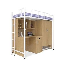 UNiCOS Jumbo Bunk Bed With Study Table White   Add Oodles Of Style To Your  Home