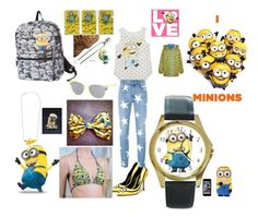 """Minion lunch date"" by rabaudlisa on Polyvore featuring STELLA McCARTNEY, George, women's clothing, women, female, woman, misses and juniors"