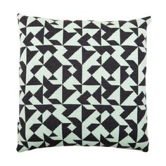 Knitted Pillow 17x17 Gray Mint, $69, now featured on Fab.