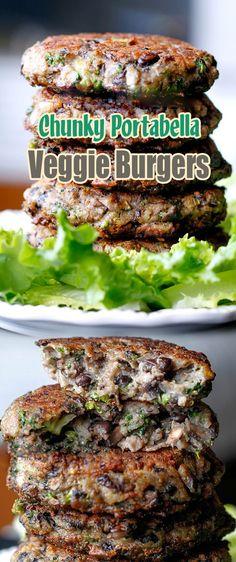 Chunky Portabella Veggie Burgers