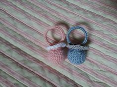 Amigurumi - ciuccio rosa e azzurro