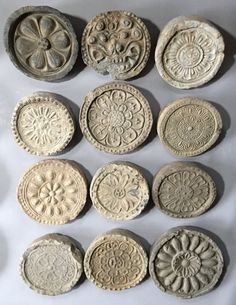 3 Kingdoms C.: Korea, Three Kingdoms Roof End Tiles Korea Tattoo, Lotus Bud, Mould Design, Antique Tiles, Jewelry Illustration, Roof Tiles, Korean Art, Korean Traditional, Porcelain Jewelry