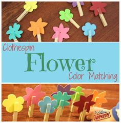clothespin flower color matching