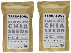Terrasoul Superfoods White Chia Seeds (Organic), 2 Pounds *** You can find more details by visiting the image link.