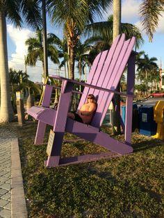 Giant Purple Adirondack Chair At The Key Largo Florida Visitors Center