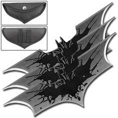 Black Splash Batman Batarangs Set of 3 For Sale | All Ninja Gear: Largest Selection of Ninja Weapons | Throwing Stars | Nunchucks