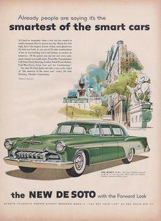 Advertising Original 1941 Print Ad Desoto De Soto Auto Vintage Art Sedan 6 Passenger Deluxe Fine Quality