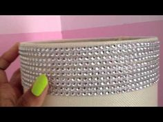 DIY~ How to Sparkle & Bling Out a Lamp Shade ~ by The Frugalnista (great for Paris themed room)