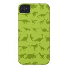 Cute Green Dinosaurs Patterns for Boys Case-Mate iPhone 4 Cases  #SOLD on #Zazzle