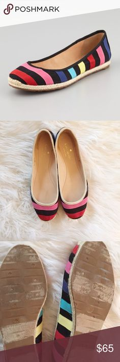 Kate Spade Rainbow Flat Gorgeous Kate Spade rainbow flats in excellent condition. Light wear to the bottoms. So cute! Wear with skinny jeans. 10fcss433 kate spade Shoes Flats & Loafers