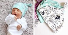 Little East Threads Top Knot Newborn Hats on Jane.com perfect gift for baby showers