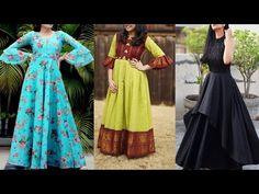 designer long gown idea || saree convert long gown ideas || very stylish gown ideas - YouTube Diy Fashion Hacks, Fashion Tips, Stylish Gown, Saree, Gowns, Summer Dresses, Youtube, Ideas, Design
