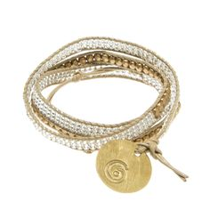 Bead and Leather Wrap Bracelet   Global Goods Partners