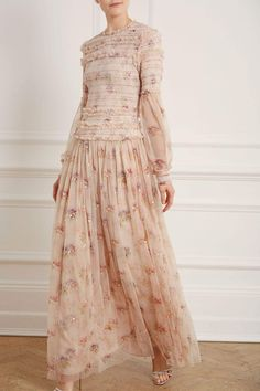 New Season Think Of Me Sequin Gown in Vintage Pink Sequin Midi Dress, Sequin Gown, Tulle Dress, Long Sleeve Gown, Vintage Style Dresses, Boho, Bridal Gowns, Fashion Dresses, Fashion Shoes