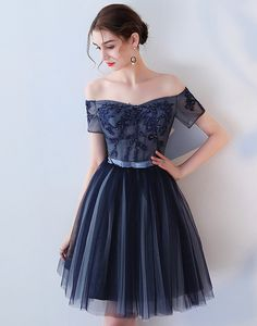 Rochie de ocazie bleumarin cu broderie Nasa, Outfit, Tulle, Christians, Embroidery, Outfits, Kleding, Clothes