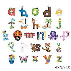 Are you a teacher in search of the perfect classrom decorations? How about a parent looking for a craft for your kids? This lowercase alphabet craft kit is ...