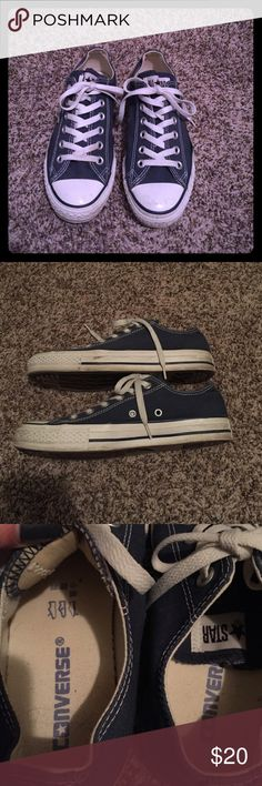 Navy Blue Converse shoes Navy Blue Converse shoes. Slightly worn but in great condition! Converse Shoes Sneakers