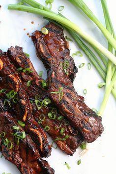 Rib Recipes, Grilling Recipes, Asian Recipes, Cooking Recipes, Asian Desserts, Cooking Games, Easy Korean Recipes, Short Recipes, Recipes Dinner