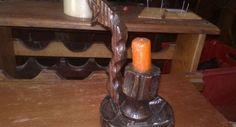 Свещник дървен