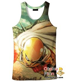 One Punch Man Flying Fast the Caped Baldy Saitama T-Shirt - One Punch Man 3D T-Shirts And Clothing