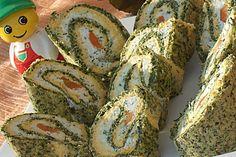 Reteta culinara Rulada cu urda din Carte de bucate, Aperitive. Specific Romania. Cum sa faci Rulada cu urda Bread, Cheese, Vegetables, Food, Diet, Sweets, Brot, Essen, Vegetable Recipes