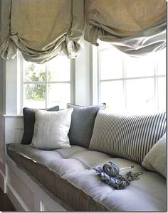 Bay window seat. love the thick mattress. (I don't care for the shades though!)
