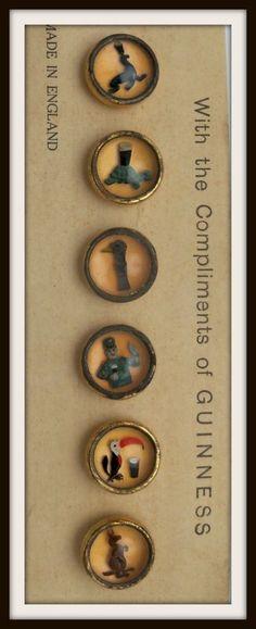 Set of Waistcoat Guinness Buttons