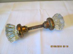 Vintage Glass Door Knobs, Home Hardware, Crafts Supplies, Home Decor Restoration Hardware by RoseBarb on Etsy