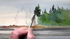Beginners Mountain Watercolor - YouTube
