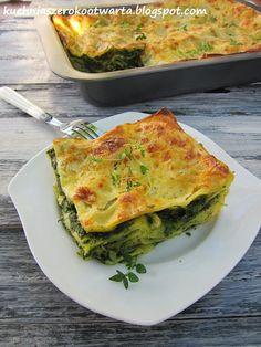 Kuchnia szeroko otwarta: Lasagne ze szpinakiem
