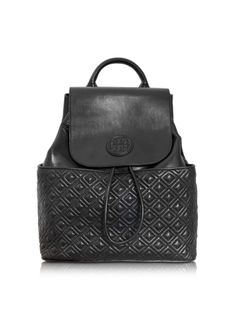 Tory Burch Marion Quilted Smooth Leather Backpack