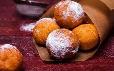 Творожные пончики в сахарной пудре