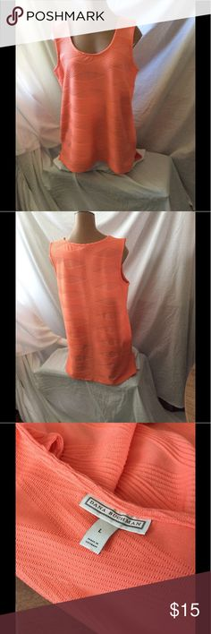 Peach sleeveless pattern top Nice peach sleeveless top Dana Buchman Tops Blouses