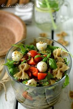 makaron-przepis Pasta Recipes, Vegan Recipes, Lunches And Dinners, Meals, Good Food, Yummy Food, Light Recipes, Food To Make, Food And Drink