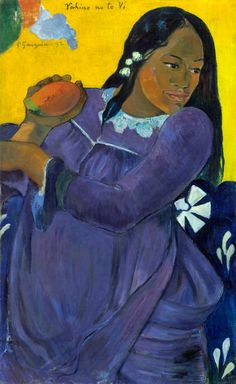 Paul Gauguin / Vahine no te vi. Dimensions: 28 3/4 x 17 3/4 x 1 1/4 in. (73 x 45.1 x 3.2 cm.)