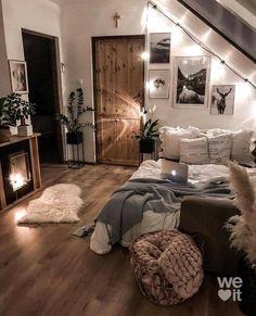Cute Bedroom Ideas, Room Ideas Bedroom, Bedroom Wall, Master Bedroom, Western Bedroom Decor, Apartment Bedroom Decor, Aesthetic Room Decor, Cozy Room, Dream Rooms