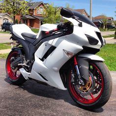"""My 2007 zx6r ninja with a custom matte white vinyl job done!!!"" -Andrew"