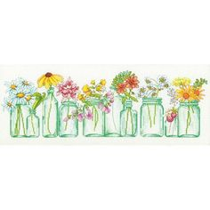 Free Shipping on orders over $35. Buy Dimensions Counted Cross-Stitch Kit, Mason Jar Lineup at Walmart.com