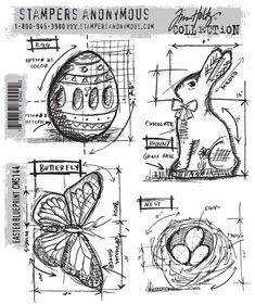 """Love Tim Holtz's """"Blueprints"""" stamps, especially the seasonal/holiday ones"""