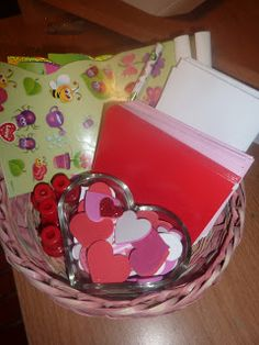 This simple but fun Valentine's Day mailing station is a fun way for kids to make valentine's for their friends and family.