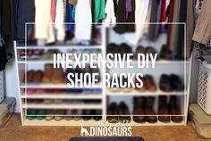 Inexpensive DIY Shoe Racks