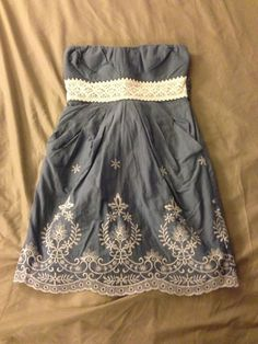 Blue Country Dress.                                    Cute, but where is the rest of it?