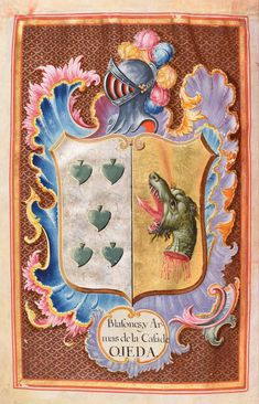 Two Sicilies, Writing Area, Family Crest, Andalusia, King Charles, Coat Of Arms, View Image, Nativity, Original Art